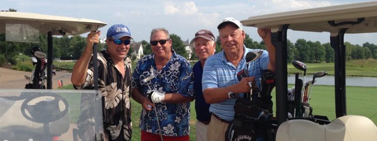 Golfers at Eastern Region Golf Tournament